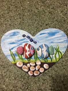 Pebble Painting, Pebble Art, Stone Painting, Seashell Art, Seashell Crafts, Summer Crafts For Kids, Christmas Crafts For Kids, Stone Crafts, Rock Crafts