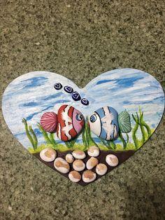 Rock Painting Ideas Easy, Rock Painting Designs, Stone Crafts, Rock Crafts, Pebble Painting, Stone Painting, Beach Rock Art, Rock Decor, Puzzle Art