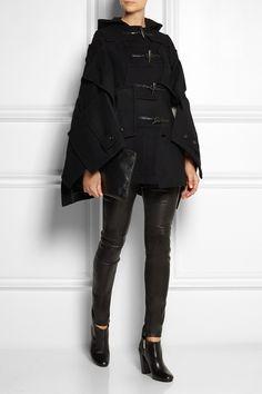 Junya Watanabe|Patchwork wool-blend felt duffle coat|NET-A-PORTER.COM  £1,129.17