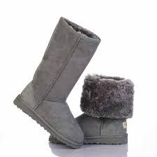 This is exactly how I wear my Uggs - folded down. And I love the gray ones more than the camel ones.