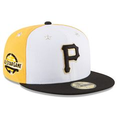 best service e528e 9b313 Men s Pittsburgh Pirates New Era White Black 2018 MLB All-Star Game  On-Field 59FIFTY Fitted Hat