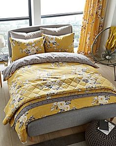 Flower Design Bedspread Comforter Quilted Throw Fits Double Bed Size 195 X 229cm Delicious In Taste Home, Furniture & Diy Decorative Quilts & Bedspreads