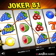 Well-known symbols, new feeling! The well-known slot shows itself from its best side. With an unbelievable number of up to 81 paylines, there are no limits to your chances of winning this game. Best Online Casino, Up And Running, Slot, Joker, Symbols, Number, Feelings, Games, Icons