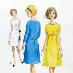 1966 Butterick 4076 SemiFitted ALine Dress by michellepatterns