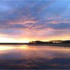 Prachtige zonsopkomst op Texel.