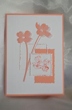Blumenstanzen Dogwoods von poppystamps, Stanzen Büttenrandkärtchen und Rahmen-Quadrat Renke, restl. Materialien SU