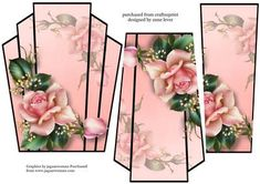 Art Deco Stacker Topper Pale Pink Roses on Craftsuprint - View Now!