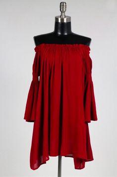 Happily Ever Off-the-Shoulder Dress - BohoPink