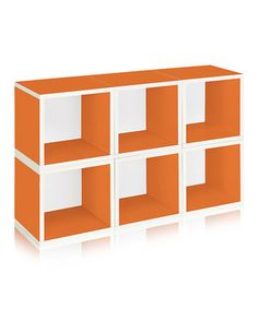 This Orange Modular Cube - Set of Six by Way Basics is perfect! #zulilyfinds