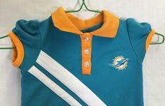 Miami Dolphins 4T Dress NFL Kids Team Apparel Girl Polo Cheerleader Football #NFL #MiamiDolphins