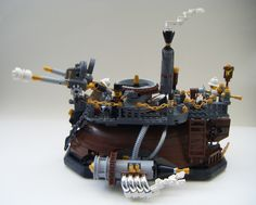 lego steampunk hovercraft   by redfern1950s