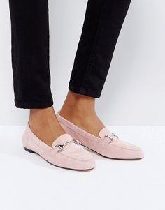 Замшевые лоферы бледно-розового цвета Office