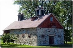 Stunningly beautiful barn photography by Ed Marek, editor of wisconsincentral.net - great site! Country Life, Country Living, Wood County, Barn Photography, Stone Barns, Farms Living, Brick And Stone, Old Barns, Carriage House