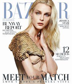 Jessica Stam for Harper's Bazaar Spain February 2016 cover - Louis Vuitton