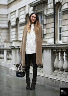street style. camel coat