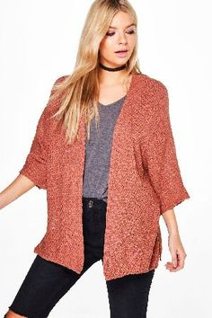 boohoo Side Split Loose Knit Batwing Cardigan - Loose knit batwing cardigan with split sidesRock relaxed layering in this loose knit cardigan - itll go with anything and everything! We throw ours over a day dress, with Chelsea boots and a fedora ha http://www.MightGet.com/january-2017-13/boohoo-side-split-loose-knit-batwing-cardigan-.asp