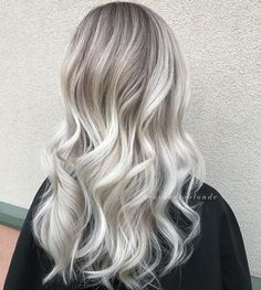 45 Insanely Hot Hairstyles for Long Hair That Will Wow You : 45 Insanely Hot Hai. - - 45 Insanely Hot Hairstyles for Long Hair That Will Wow You : 45 Insanely Hot Hairstyles for Long Hair That Will Wow You – My Stylish Zoo White Blonde Hair, Ice Blonde, Silver Blonde, Hot Hair Styles, Platinum Hair, Hair Color Dark, Blonde Roots, Blonde Balayage, Pretty Hairstyles