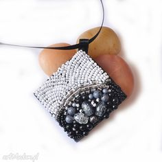Coral pendant necklace pendant necklaces aleksandrab embroidery