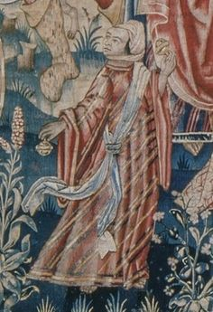 Detail from ZIGUENERS (Gypsies) Part 1 of 2 . Flemish Tapestry probably from Tournai c1501-1525. Currently in the collection of Gaasbeek Castle, Belgium.