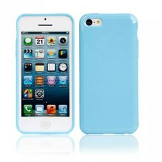 Refacing Protective TPU Case for iPhone 5C Sky Blue | favwish - Accessories on ArtFire