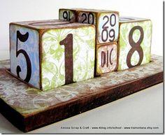 Regali di Natale fai da te: il calendario da tavolo eco chic craft Christmas