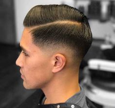 Side Swept with Skin Fade