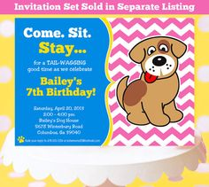 DOG Party Printable  Puppy Party  Dog by AmandasPartiesToGo, $29.00