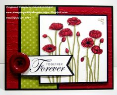 Stamping with Julie Gearinger: Stampin' Up! Card created for the Pals Paper Arts PPA204 Sketch Challenge using the new Blendabilities along with Pleasant Poppies (MDS version) and Together Forever (also MDS) :-)