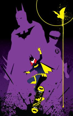 Batgirl gleaming the cube by Tom Kelly