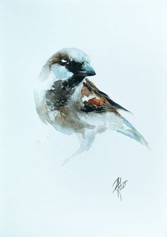 Buy Sparrow, Watercolour by Andrzej Rabiega on Artfinder. Discover thousands of other original paintings, prints, sculptures and photography from independent artists.