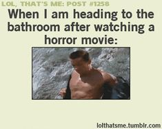 I don't watch horror... This is just funny