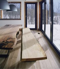 Live edge table and bench   Remodelista