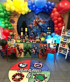 [New] The 10 Best Home Decor Today (with Pictures) Spider Man Party, Avenger Party, Hulk Birthday, Avengers Birthday, Avengers Party Decorations, Birthday Party Decorations, Anniversaire Captain America, Superhero Theme Party, 4th Birthday Parties