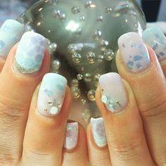 Shiny aqua nails  #gelnailart #nailart #gelnails #naturalnails #overlays #summerfashion #calgel #biosculpturegel #nailart #rockridge #oaklandnails #bayareanails