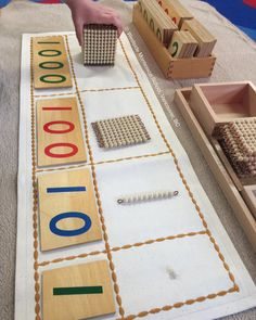 Montessori Math Golden Bead Organic Cotton Canvas Work Mats