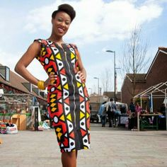Your place to buy and sell all things handmade African Attire, African Wear, African Dress, African Fashion, Ankara Styles For Women, African Prom Dresses, Tribal Print Dress, African Girl, African Design
