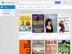 Google Books kaupan kirjavalikoimaa
