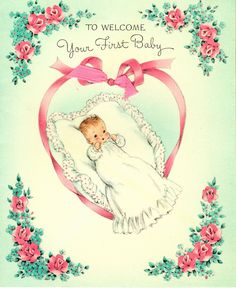 Vintage first baby card | Flickr - Photo Sharing!