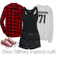 """Stiles Stillinsky inspired outfit/ Teen Wolf"" by tvdsarahmichele on Polyvore"