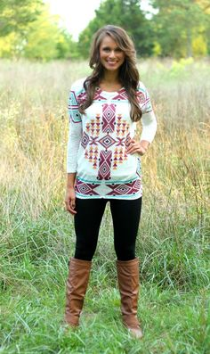 The Pink Lily Boutique - In The Wild West Blouse, $34.00 (http://www.thepinklilyboutique.com/in-the-wild-west-blouse/)