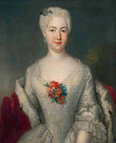 Antoine Pesne, Fürstin Anna Friederike von Anhalt-Köthen, ca. 1738
