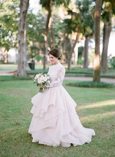 Glamorous wedding gown: Photography : Ashley Seawell Read More on SMP: http://www.stylemepretty.com/2017/03/09/this-is-the-wedding-southern-brides-dream-about/