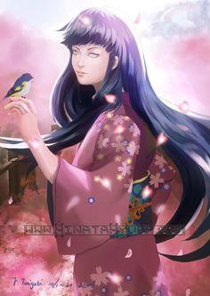 hinata with kimono digital art