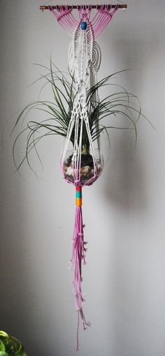 Macrame+Plant+Hanger+by+SlowDownProductions+on+Etsy,+$57.00