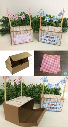 Beautiful souvenirs for Festa Junina I gathered in this post beautiful ideas of Party Favors. Birthday Photos, Diy Birthday, Birthday Parties, Party In A Box, Party Kit, Diy And Crafts, Crafts For Kids, Paper Crafts, Accessoires Photo
