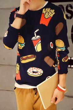Funny Chips Hamburger Cola Print