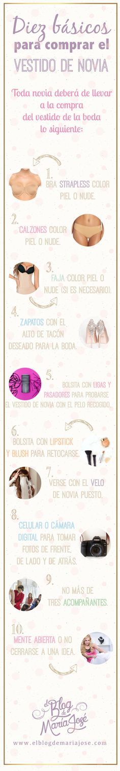 Diez básicos para comprar el vestido de novia #bodas #ElBlogdeMaríaJosé #VestidoNovia #Consejos
