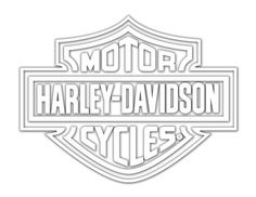 Harley-Davidson Coloring Pages to Print | Harley Davidson Logo Cutz Rear Window Decal