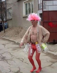 Uncle Anton off to another refreshing swim in the Chernobyl community gene pool.