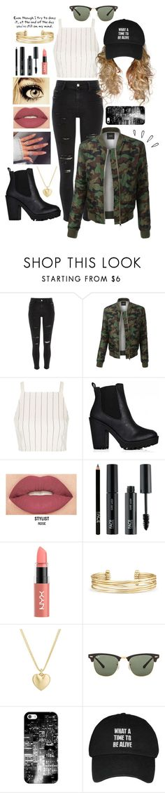 """""""Chilly girl"""" by brookemcc ❤ liked on Polyvore featuring River Island, LE3NO, Topshop, Olsen, Smashbox, FACE Stockholm, Stella & Dot, Finn, Old Navy and Love Quotes Scarves"""